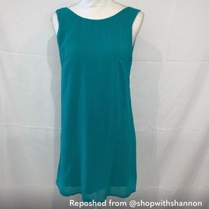 Tobi Teal Dress with Woven Back